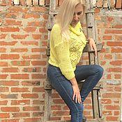Одежда ручной работы. Ярмарка Мастеров - ручная работа Кофта модный желтый. Handmade.