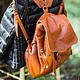 Рюкзаки ручной работы. Ярмарка Мастеров - ручная работа. Купить ФОТО Рюкзак  Redbag.. Handmade. Однотонный, рюкзак из кожи