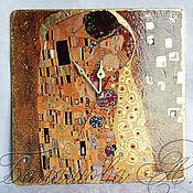 """Часы классические ручной работы. Ярмарка Мастеров - ручная работа Часы """"Поцелуй"""". Handmade."""