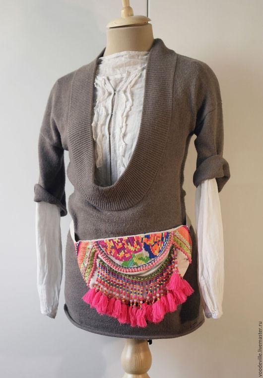 Одежда. Ярмарка Мастеров - ручная работа. Купить Комплект повседневный. Handmade. Коричневый, белая