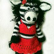 Куклы и игрушки ручной работы. Ярмарка Мастеров - ручная работа Зебра (лошадка). Handmade.