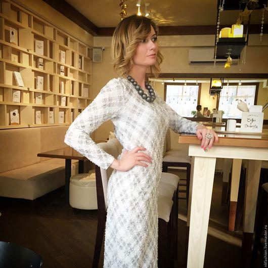 """Платья ручной работы. Ярмарка Мастеров - ручная работа. Купить Платье """"Бизнес леди"""". Handmade. Разноцветный, платье летнее, шанель"""