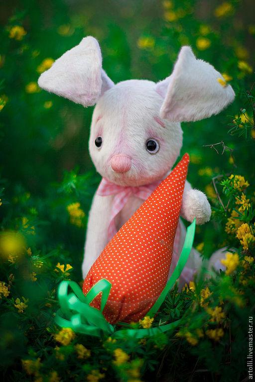 Мишки Тедди ручной работы. Ярмарка Мастеров - ручная работа. Купить Зайчонок Зефирка. Handmade. Друзья мишек тедди, синтепон