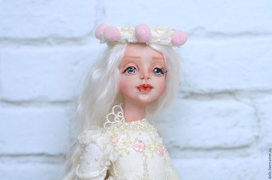 Коллекционные куклы ручной работы. Ярмарка Мастеров - ручная работа. Купить Ангел-хранитель  Марта. Handmade. Розовый, текстиль