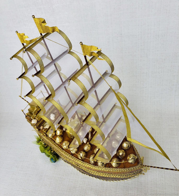 Самые красивые корабли из конфет фото