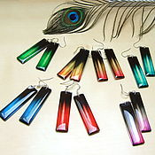 Украшения handmade. Livemaster - original item Transparent Earrings Sticks Rainbow Gamma To Choose The Color Transition Ombre. Handmade.