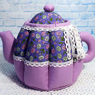 Для дома и интерьера ручной работы. Ярмарка Мастеров - ручная работа Утварь: Текстильные чайники-шкатулки. Handmade.