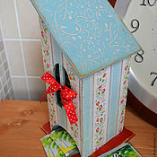 """Для дома и интерьера ручной работы. Ярмарка Мастеров - ручная работа Чайный домик """"Нежно-голубой"""". Handmade."""