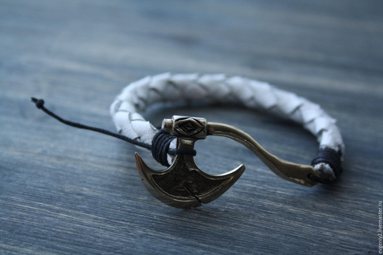 Leather bracelet with Axe, Ring, Volgograd,  Фото №1