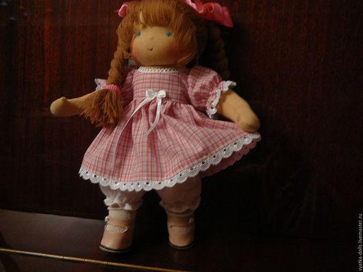 Вальдорфская игрушка ручной работы. Ярмарка Мастеров - ручная работа. Купить Зефирка. Handmade. Розовый, подарок ребенку, кожа натуральная