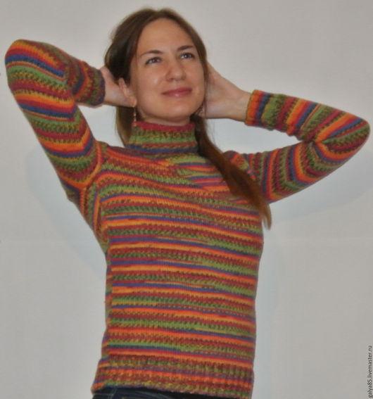 Кофты и свитера ручной работы. Ярмарка Мастеров - ручная работа. Купить Свитер микс. Handmade. Разноцветный, теплый свитер