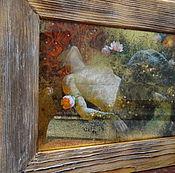 Для дома и интерьера ручной работы. Ярмарка Мастеров - ручная работа Зеркальное панно в раме Русалочка. Handmade.