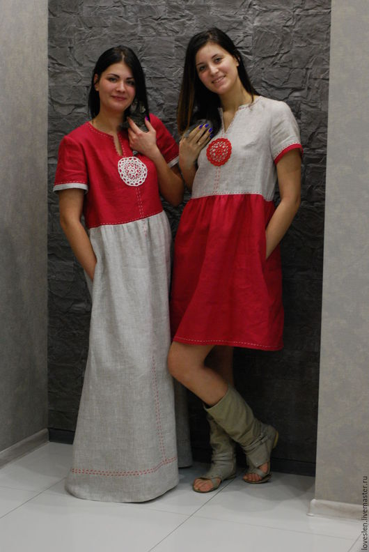 """Платья ручной работы. Ярмарка Мастеров - ручная работа. Купить Платье """"Льняное лето"""". Handmade. Женская одежда, вязаное кружево"""