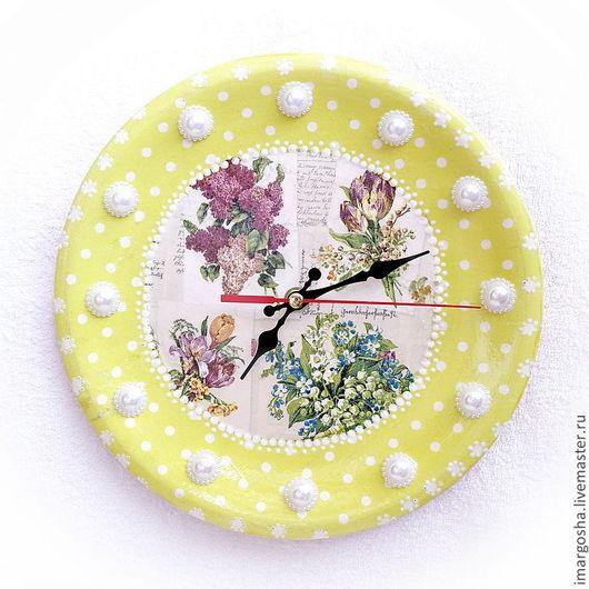 """Часы для дома ручной работы. Ярмарка Мастеров - ручная работа. Купить Часы """"Время цветения"""". Handmade. Часы настенные"""