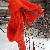 Аксессуары handmade. Livemaster - original item Knitted red scarf Unisex. Handmade.