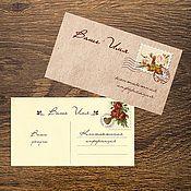 """Дизайн и реклама ручной работы. Ярмарка Мастеров - ручная работа Визитки """"Почтовые открытки"""". Handmade."""