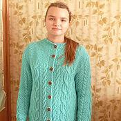 Одежда ручной работы. Ярмарка Мастеров - ручная работа вязаное пальто. Handmade.