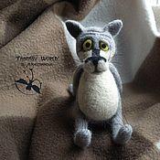 """Куклы и игрушки handmade. Livemaster - original item """"There once was a dog""""  the wolf (dry felting). Handmade."""