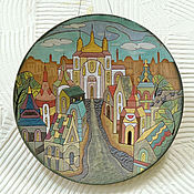 """Картины и панно ручной работы. Ярмарка Мастеров - ручная работа Панно """"Изумрудный город"""". Handmade."""