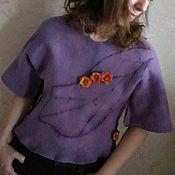 Одежда ручной работы. Ярмарка Мастеров - ручная работа Валяный свитер валяная кофта свитшот  Лист. Handmade.