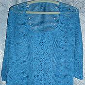 Одежда ручной работы. Ярмарка Мастеров - ручная работа Туника синяя. Handmade.