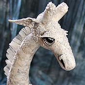 Куклы и игрушки ручной работы. Ярмарка Мастеров - ручная работа Белоснежный Жираф (последний). Handmade.
