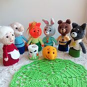 Куклы и игрушки handmade. Livemaster - original item Finger theater knitted Bun. Handmade.