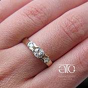 Украшения handmade. Livemaster - original item A gold ring with a 1.09 Carat diamond. 585.. Handmade.