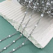Материалы для творчества handmade. Livemaster - original item 50 cm 1.5 mm steel chain with enamel (5639). Handmade.