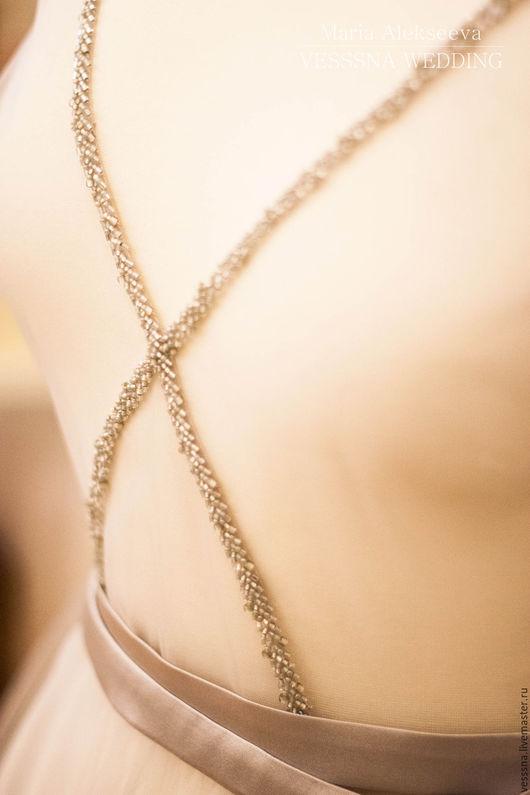 Халаты ручной работы. Ярмарка Мастеров - ручная работа. Купить Будуарное платье Grey Fog. Handmade. Свадебное платье