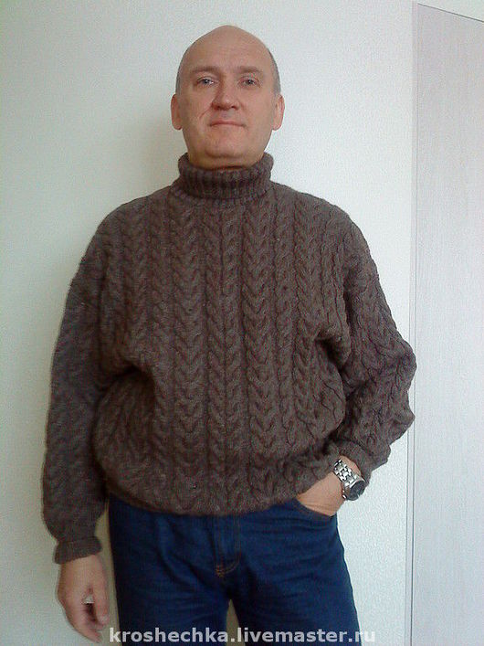 For Men handmade. Livemaster - handmade. Buy Knitted wool sweater men 'the Spit'.The author's work