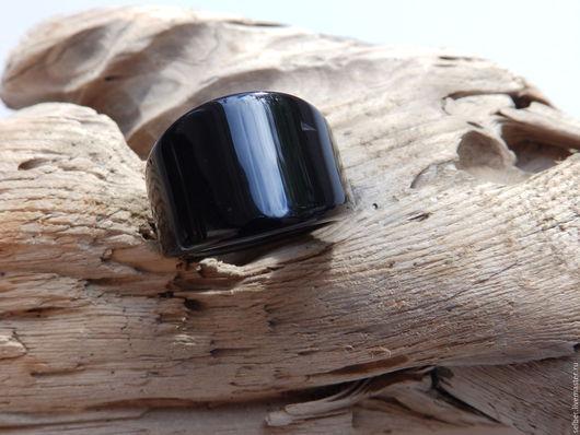 Кольца ручной работы. Ярмарка Мастеров - ручная работа. Купить Кольцо из агата Акцент 19 размер. Handmade. Черный, с огранкой