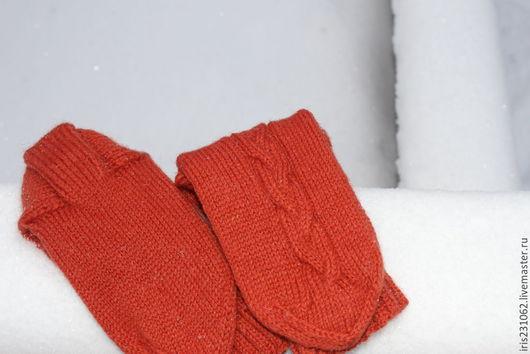 Носки, Чулки ручной работы. Ярмарка Мастеров - ручная работа. Купить носки мужские терракот. Handmade. Коричневый, носки с орнаментом