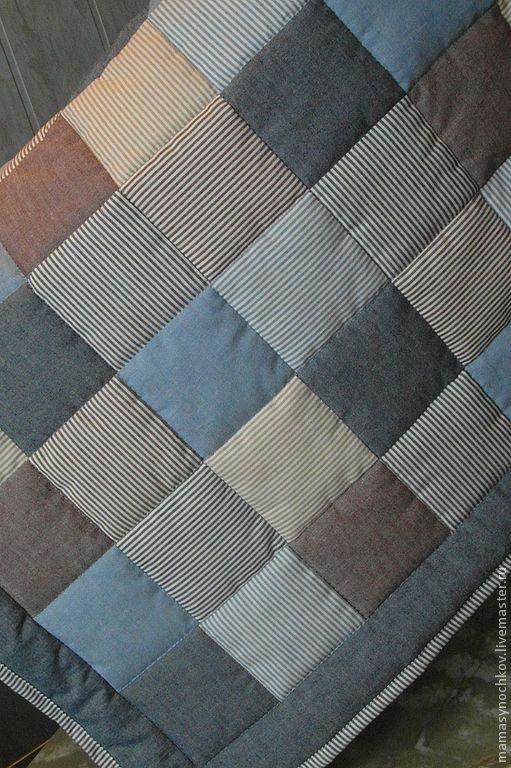 Пледы и одеяла ручной работы. Ярмарка Мастеров - ручная работа. Купить Лоскутное одеяло. Handmade. Пэчворк, мальчику, американский хлопок