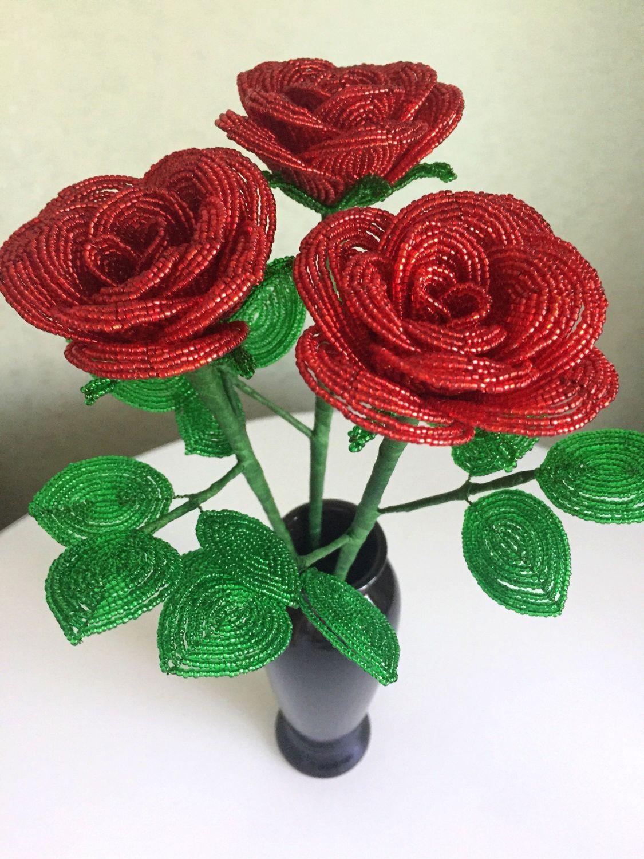 Букет бутоньерка, купить цветы из бисера на авито