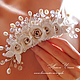 Заколка для свадебной прически.  Украшения для невесты. Свадебный стиль. Украшения для праздников и торжеств. Необычные украшения в подарок.