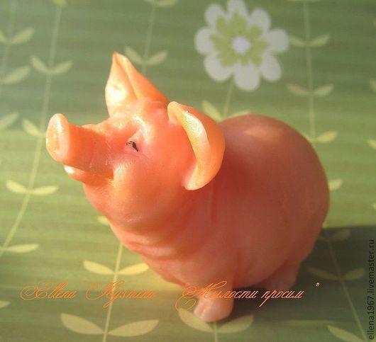 Мыло ручной работы. Ярмарка Мастеров - ручная работа. Купить Мыло Свинюшка. Handmade. Коралловый, мыло ручной работы