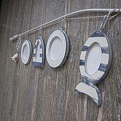 """Для дома и интерьера ручной работы. Ярмарка Мастеров - ручная работа Рамочки для фото """"Удочка"""". Handmade."""