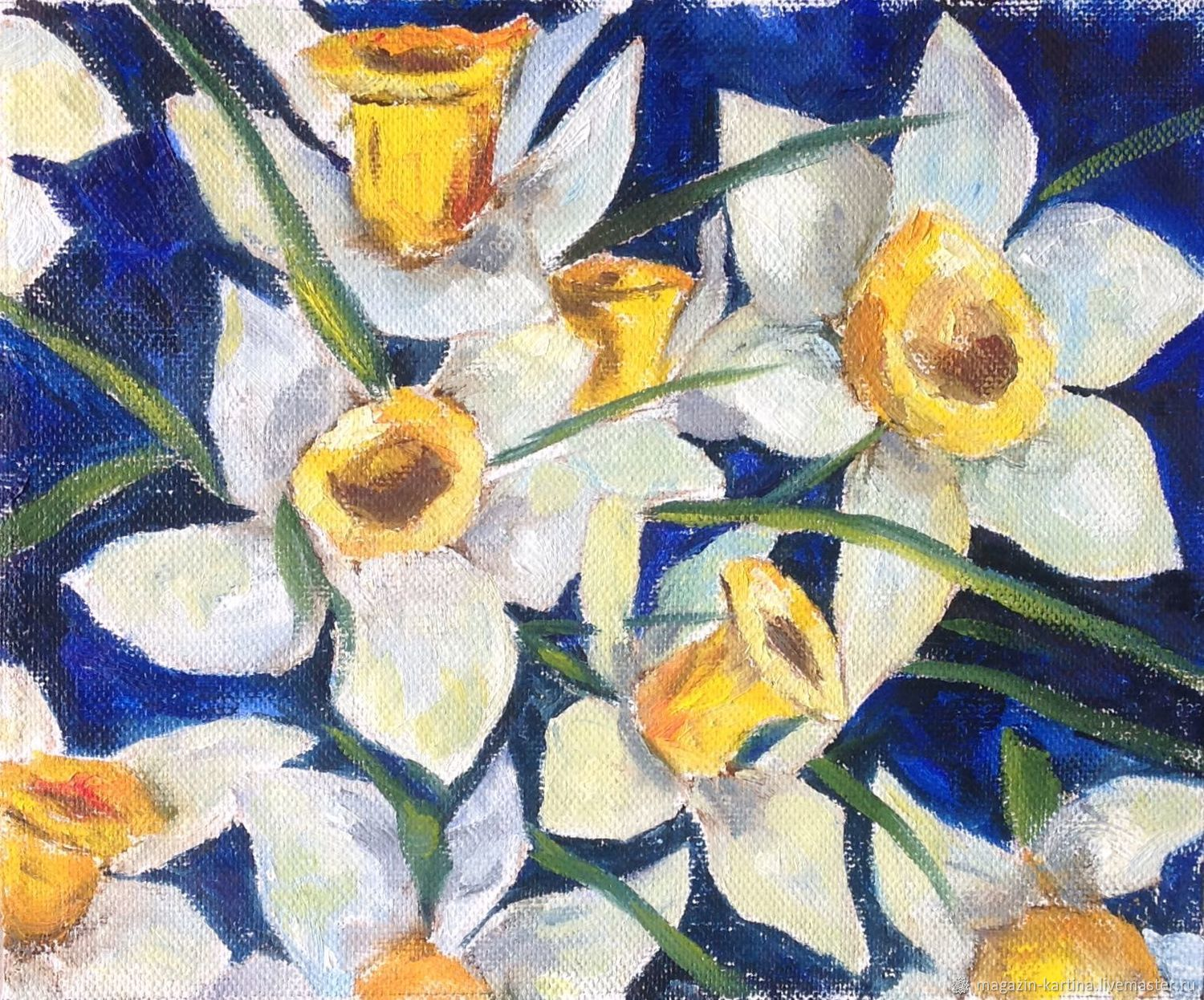 Oil paintings: Daffodils, Pictures, Chelyabinsk,  Фото №1