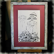 Картины и панно handmade. Livemaster - original item Pictures: St. Petersburg Angel. Handmade.