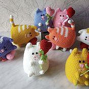 """Мягкие игрушки ручной работы. Ярмарка Мастеров - ручная работа Кот """"Пухлик"""" вязаный. Handmade."""