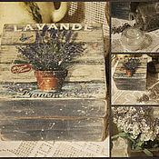"""Для дома и интерьера ручной работы. Ярмарка Мастеров - ручная работа Шкатулка """"Lavande"""". Handmade."""