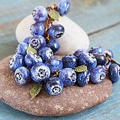 """Украшения ручной работы. Ярмарка Мастеров - ручная работа Браслет лэмпворк """"Blueberry"""". Handmade."""