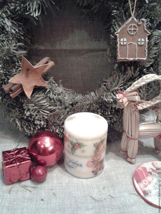 Новый год 2017 ручной работы. Ярмарка Мастеров - ручная работа. Купить Свечи новогодние. Handmade. Свечи ручной работы, свечи