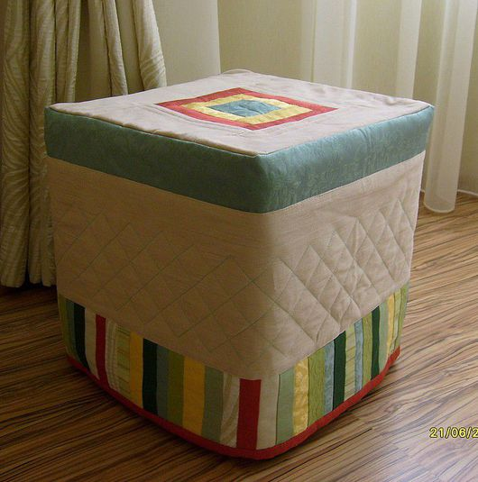 Kitchen handmade. Livemaster - handmade. Buy cover for Ottoman(chair).Case, combined, bedroom interior, textiles for furnishings