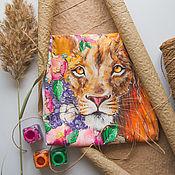 Одежда handmade. Livemaster - original item t-shirt lion La Fleur. Handmade.