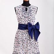 Одежда handmade. Livemaster - original item Gown of crepe, silk small flower with belt. Handmade.