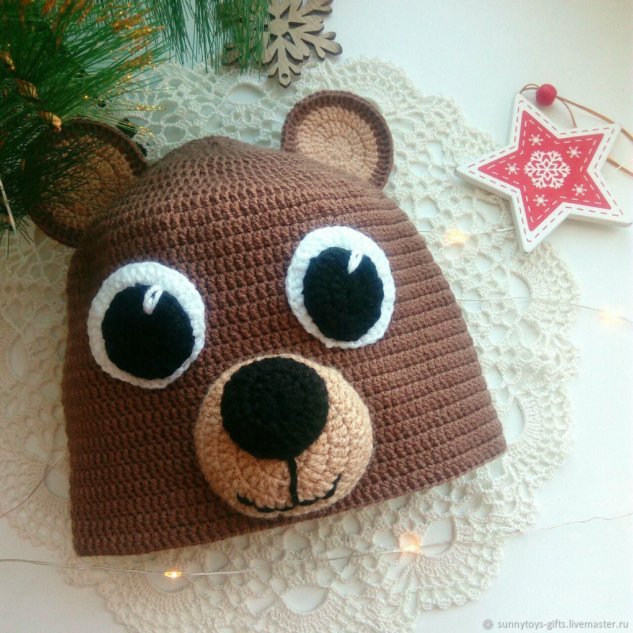 Teddy bear knitted hat, Carnival costumes for children, Berezovsky,  Фото №1