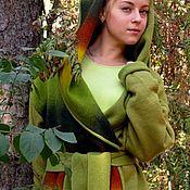 """Одежда ручной работы. Ярмарка Мастеров - ручная работа Пальто """"зеленый эльф"""". Handmade."""