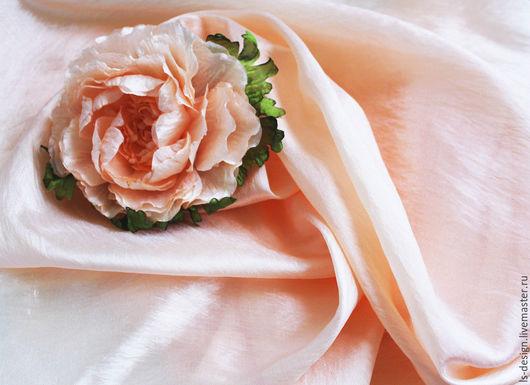 """Ткань для цветов ручной работы. Ярмарка Мастеров - ручная работа. Купить Ткань для создания цветов  Kenzo """"Персик"""". Handmade."""